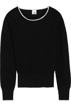 IRIS & INK Ellie cutout cotton-blend sweater