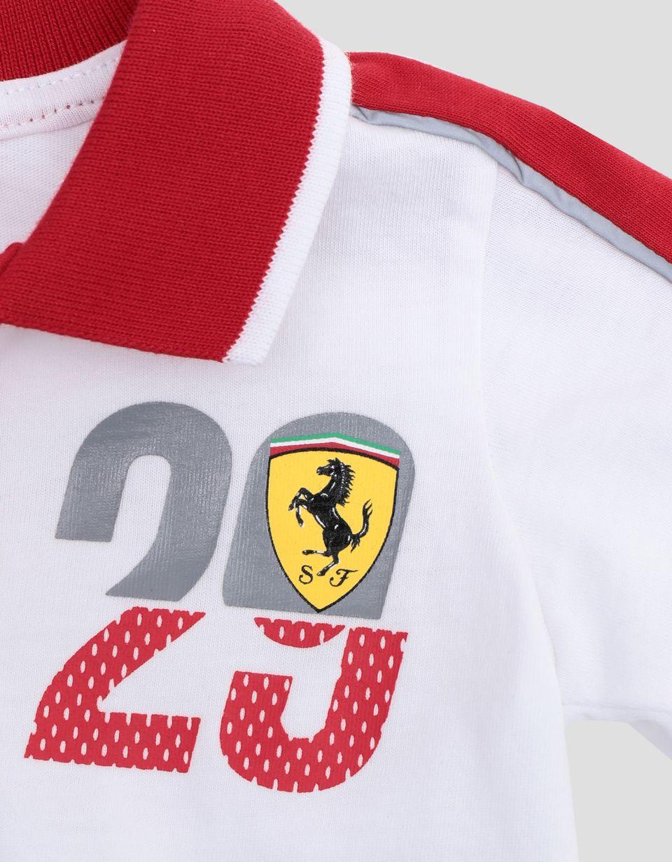 Scuderia Ferrari Online Store - Polo nouveau-né Scuderia Ferrari avec imprimé FAST - Polos à manches courtes