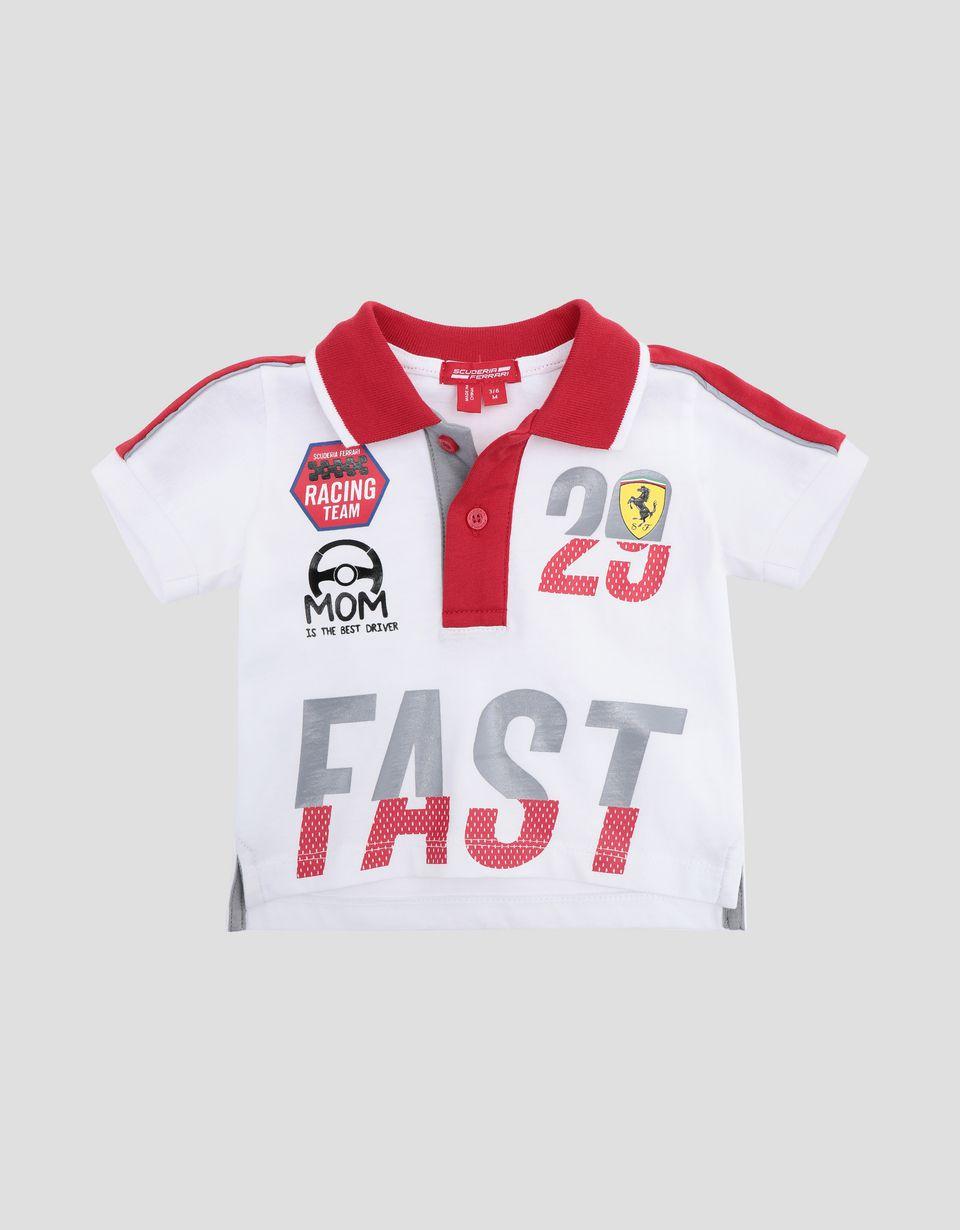 Scuderia Ferrari Online Store - Infant Scuderia Ferrari polo with FAST print - Short Sleeve Polos