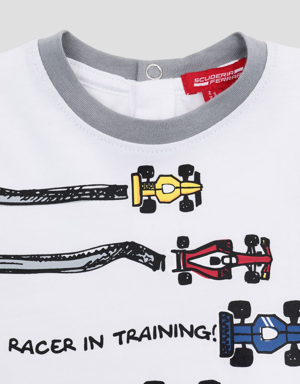 Scuderia Ferrari Online Store - Infant T-shirt with racecar print - Short Sleeve T-Shirts