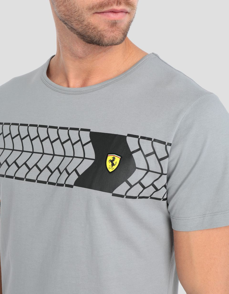 Scuderia Ferrari Online Store - Men's T-shirt with tyre print - Short Sleeve T-Shirts