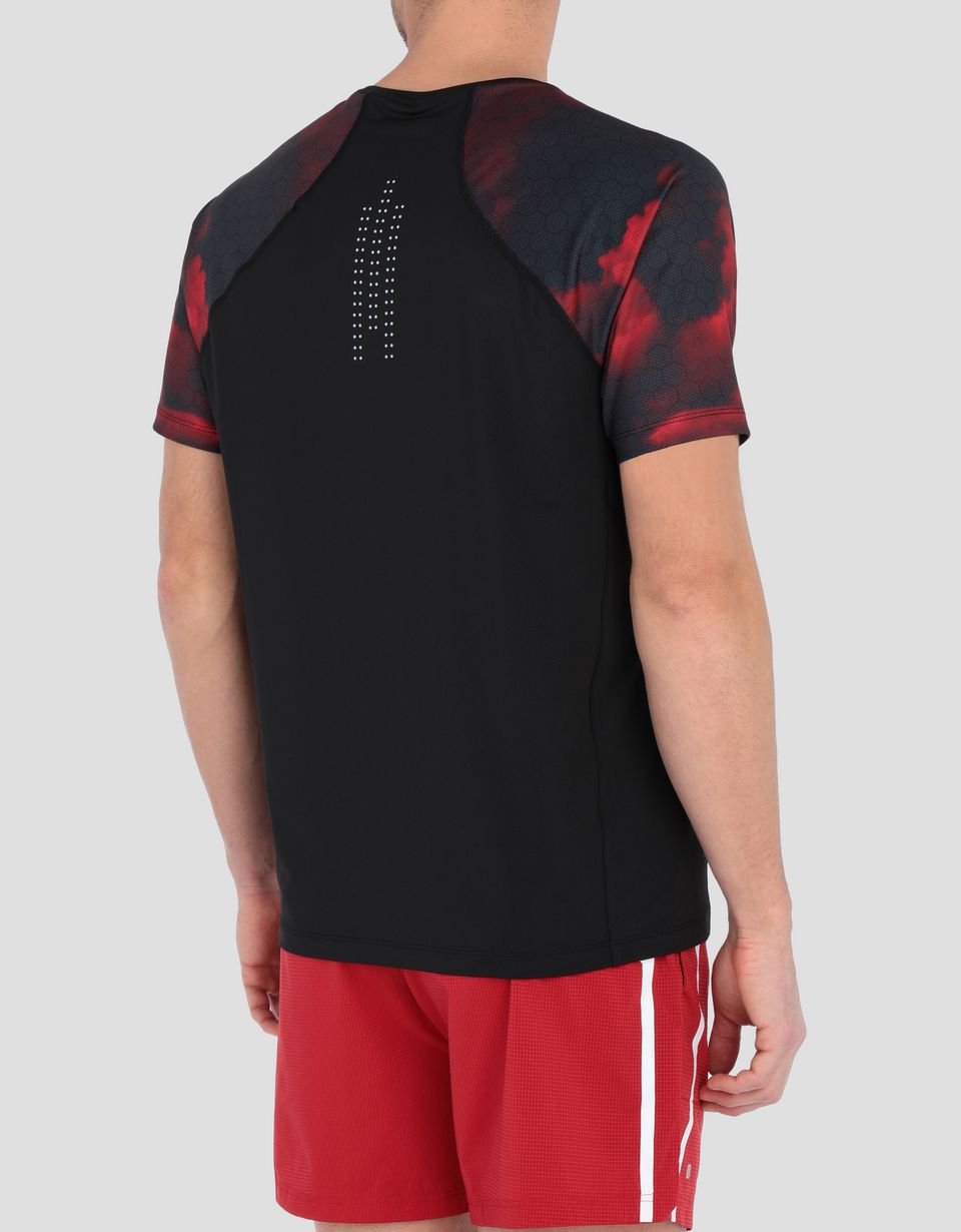 Scuderia Ferrari Online Store - Men's running T-shirt with Red Clouds print - Short Sleeve T-Shirts