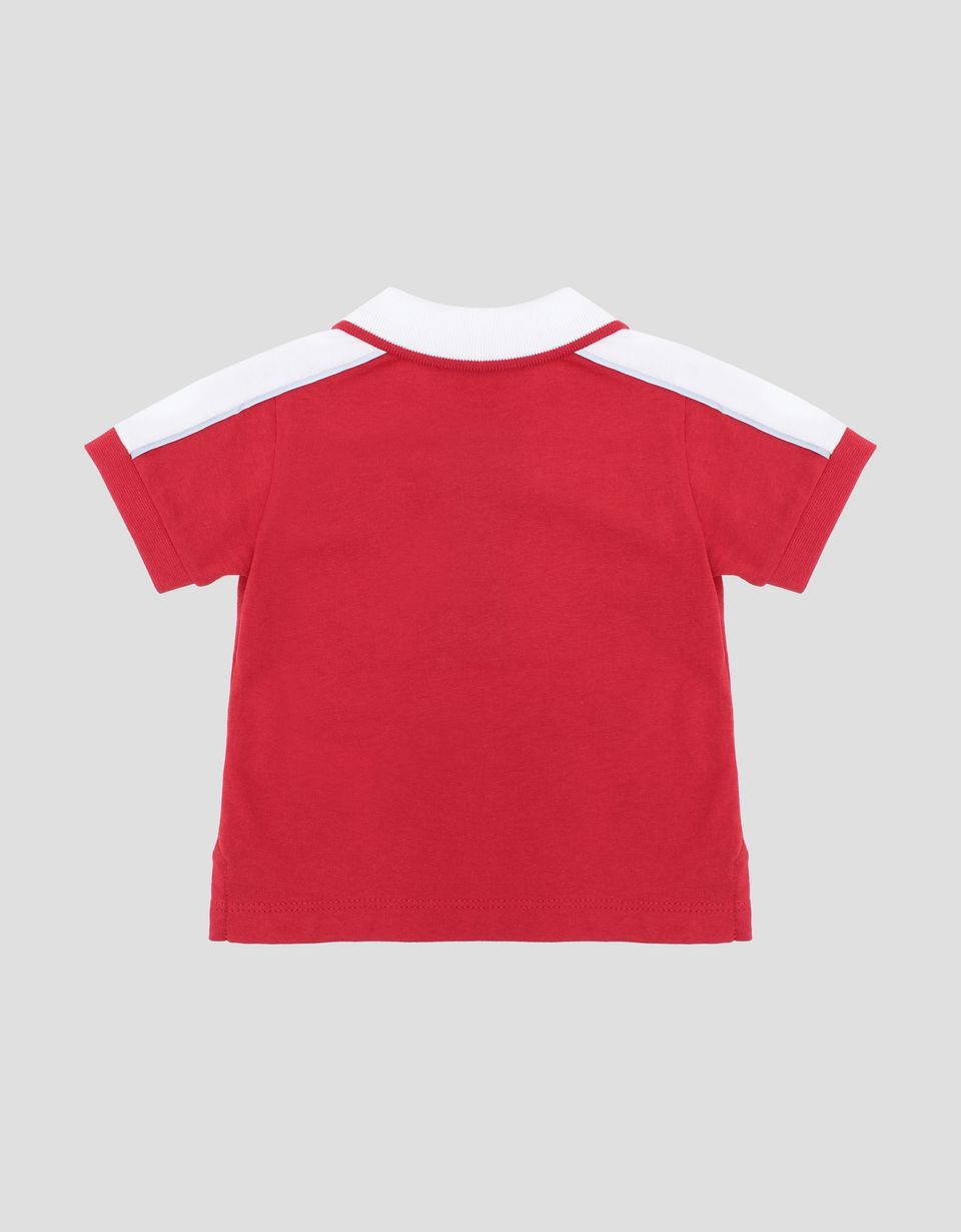 Scuderia Ferrari Online Store - Scuderia Ferrari infant's polo shirt for boys with FAST print - Short Sleeve Polos
