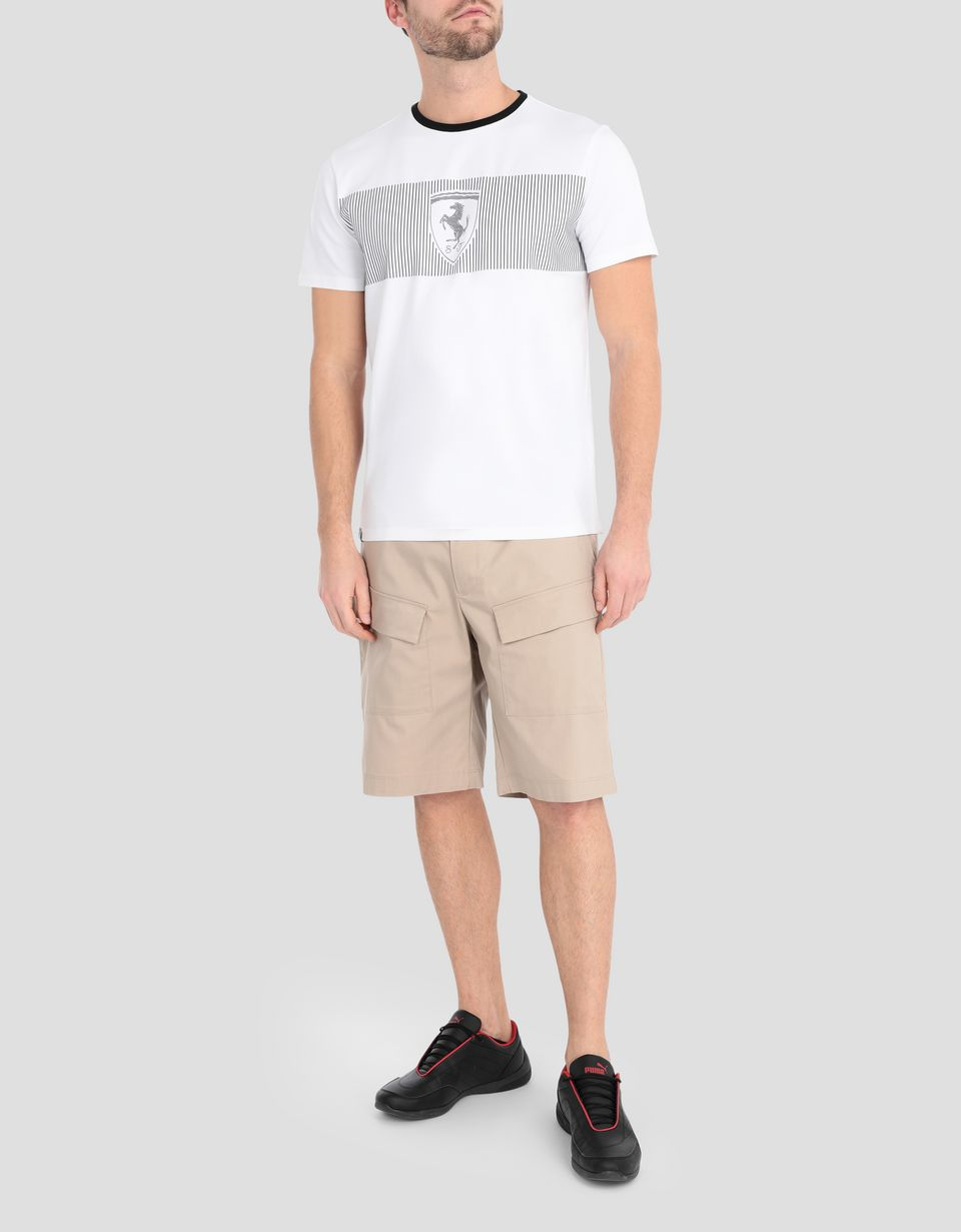 Scuderia Ferrari Online Store - Men's Ferrari Shield print T-shirt - Short Sleeve T-Shirts