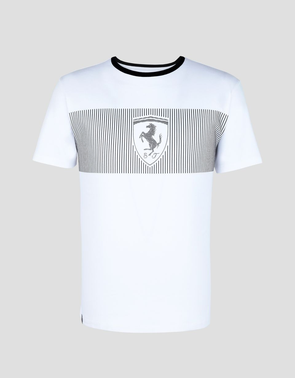 Scuderia Ferrari Online Store - Men's T-shirt with Ferrari Shield print - Short Sleeve T-Shirts