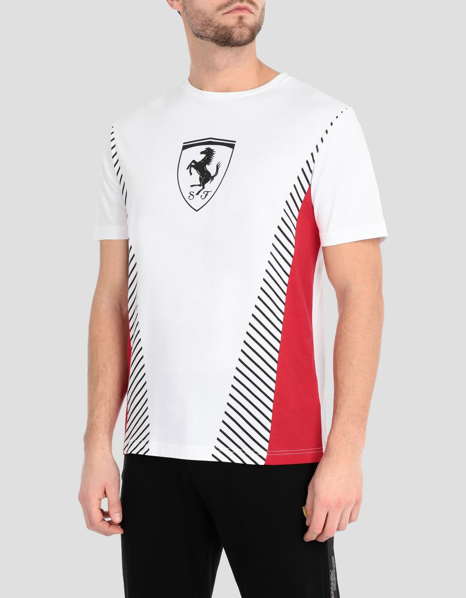Scuderia Ferrari Online Store - Men's T-shirt with contrasting inserts - Short Sleeve T-Shirts