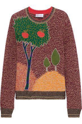REDValentino Metallic wool-blend jacquard sweater