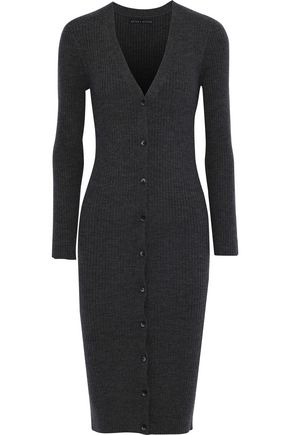 ALICE + OLIVIA Annika ribbed wool-blend cardigan