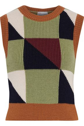 REDValentino Ribbed intarsia wool vest