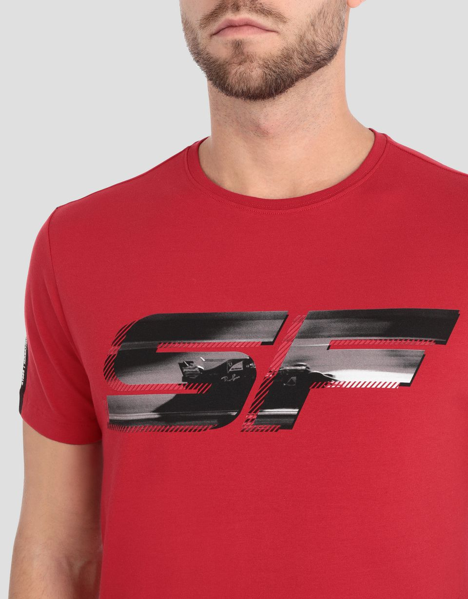Scuderia Ferrari Online Store - Men's T-shirt with Scuderia Ferrari print - Short Sleeve T-Shirts