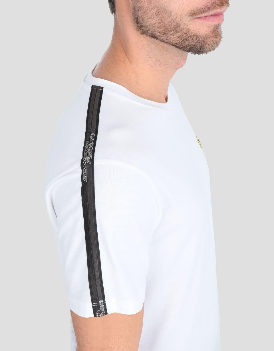 Scuderia Ferrari Online Store - Herren-Jersey-T-Shirt mit Icon Tape - Kurzärmelige T-Shirts