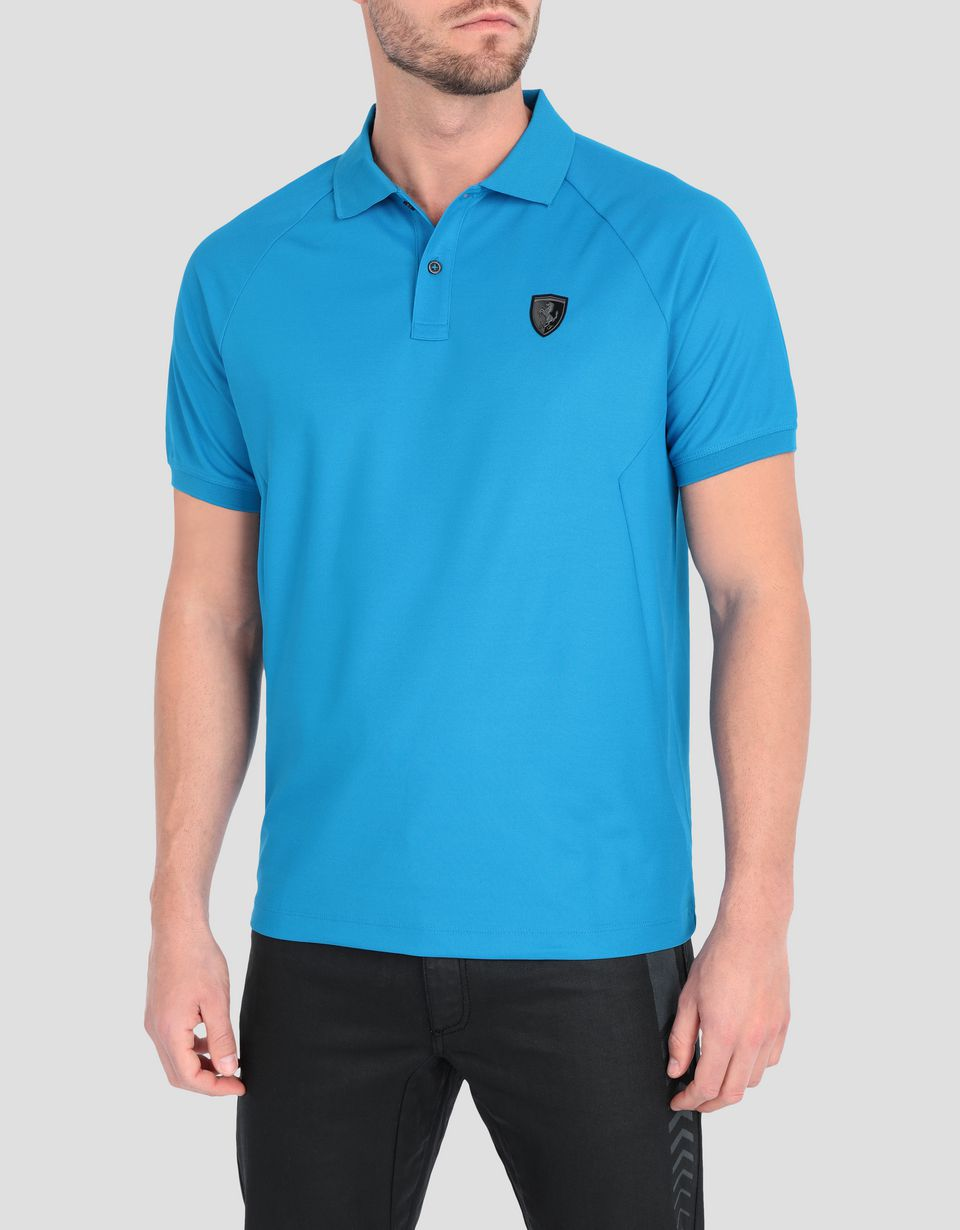 Scuderia Ferrari Online Store - Men's technical piquet polo with ergonomic seams - Short Sleeve Polos