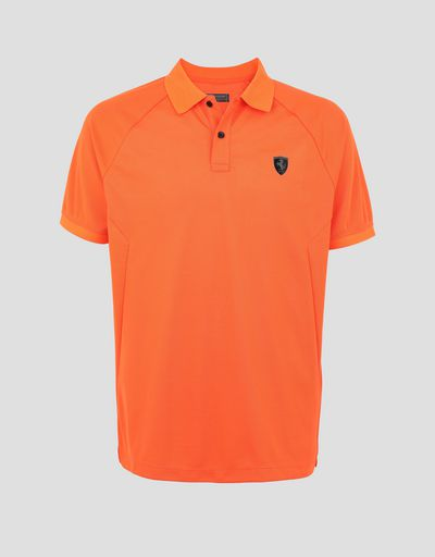 Scuderia Ferrari Online Store - Men's technical piquet polo with ergonomic seams -