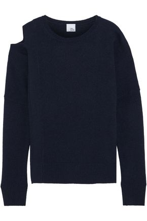IRIS & INK Gracie cold-shoulder wool sweater