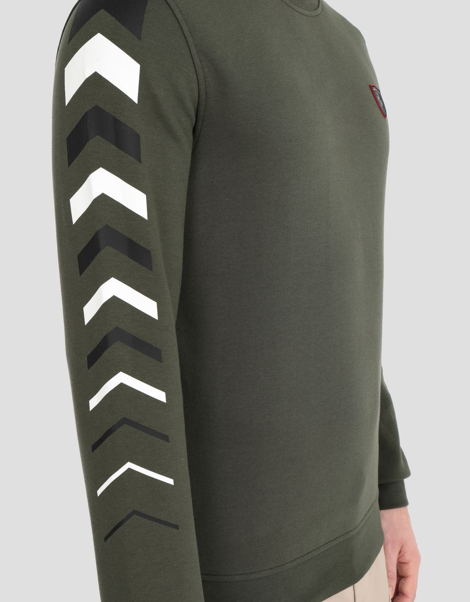 Scuderia Ferrari Online Store - Men's double knit sweater with arrow print - Crew Neck Sweaters