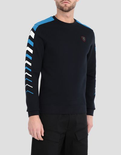 Men's double knit sweater with arrow print