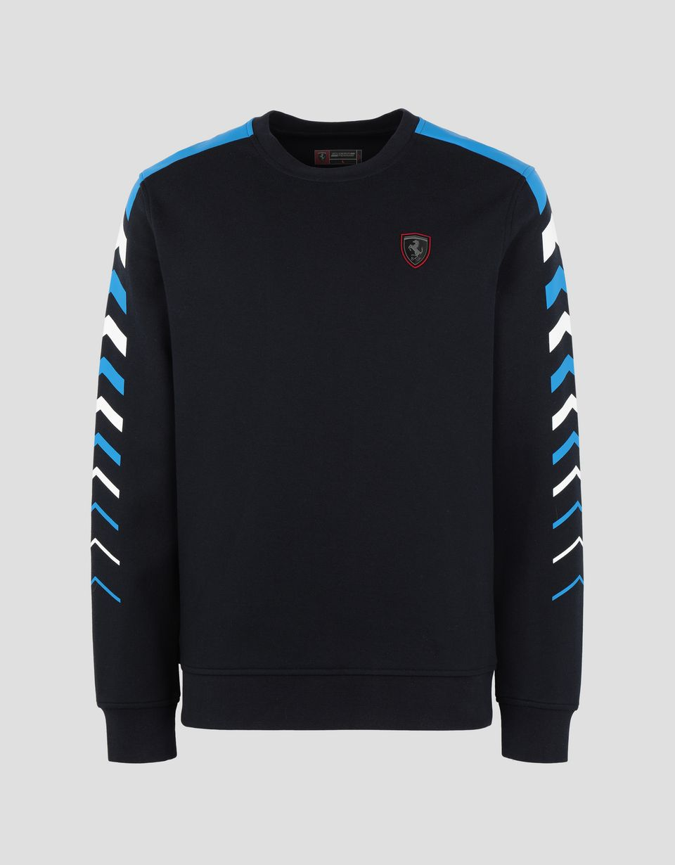 Scuderia Ferrari Online Store - Men's double knit sweater with arrow print -