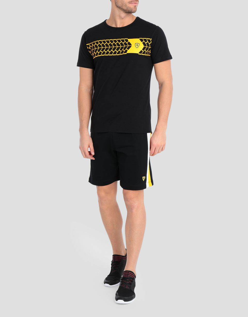 Scuderia Ferrari Online Store - Men's tire print T-shirt -
