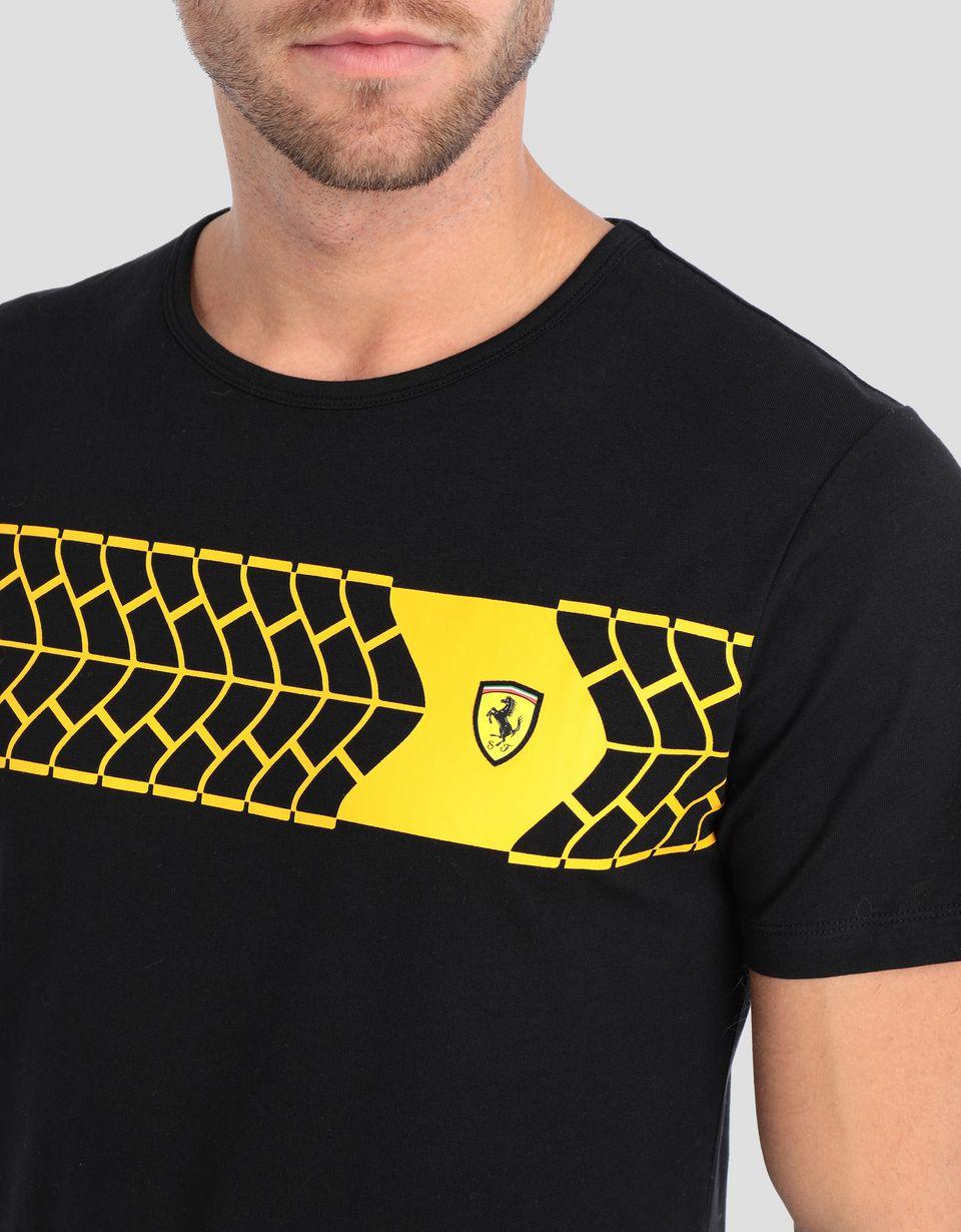 Scuderia Ferrari Online Store - T-shirt uomo con stampa pneumatico - T-shirt manica corta