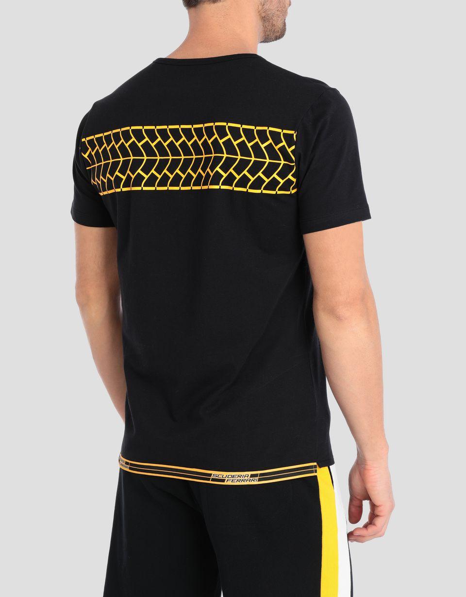 Scuderia Ferrari Online Store - Men's tire print T-shirt - Short Sleeve T-Shirts
