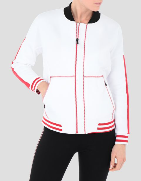 Women's sweatshirt with full zip and RED TEAM print