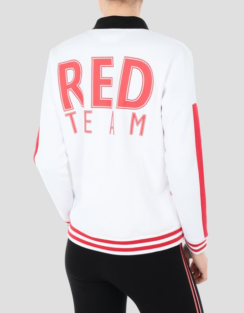 Women's full zipper sweatshirt with RED TEAM print