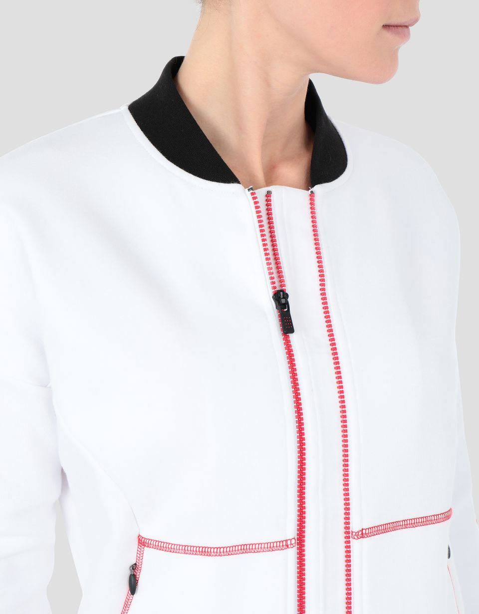 Scuderia Ferrari Online Store - Women's full zipper sweatshirt with RED TEAM print -