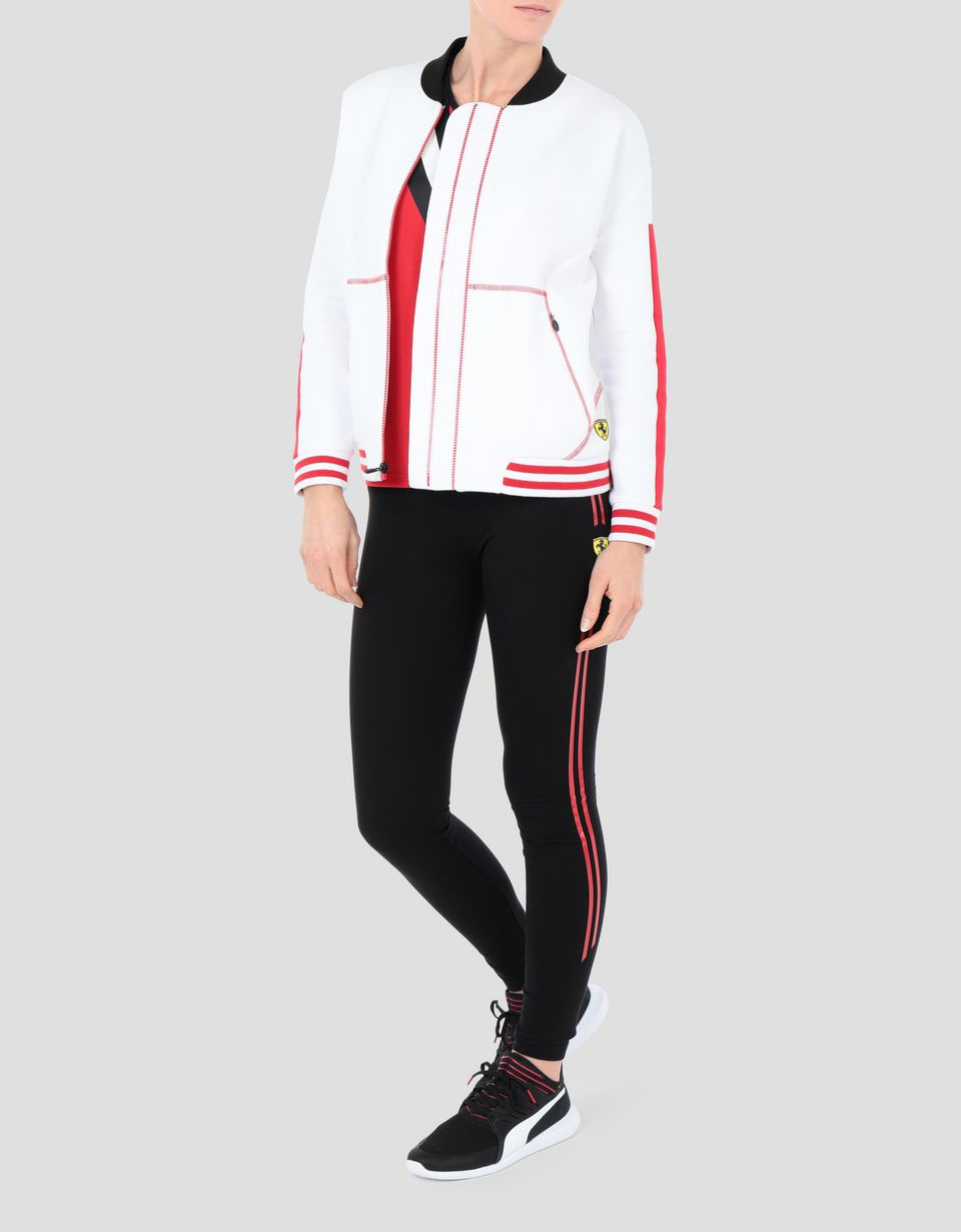 Scuderia Ferrari Online Store - Women's sweatshirt with full zip and RED TEAM print - Zip Jumpers