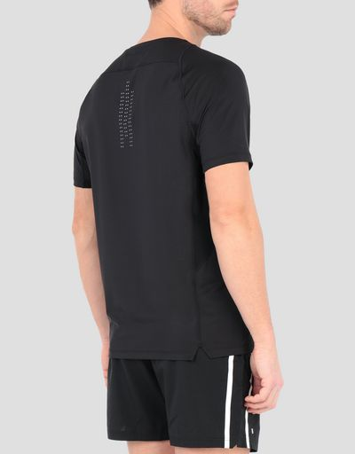 Men's running T-shirt with mesh inserts