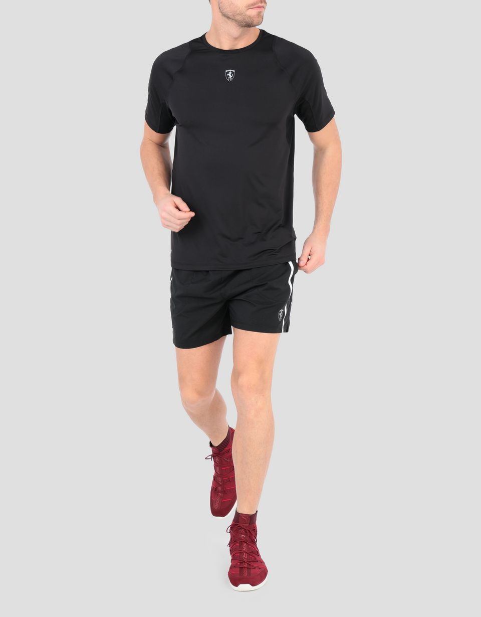 Scuderia Ferrari Online Store - Men's running T-shirt with mesh inserts - Short Sleeve T-Shirts