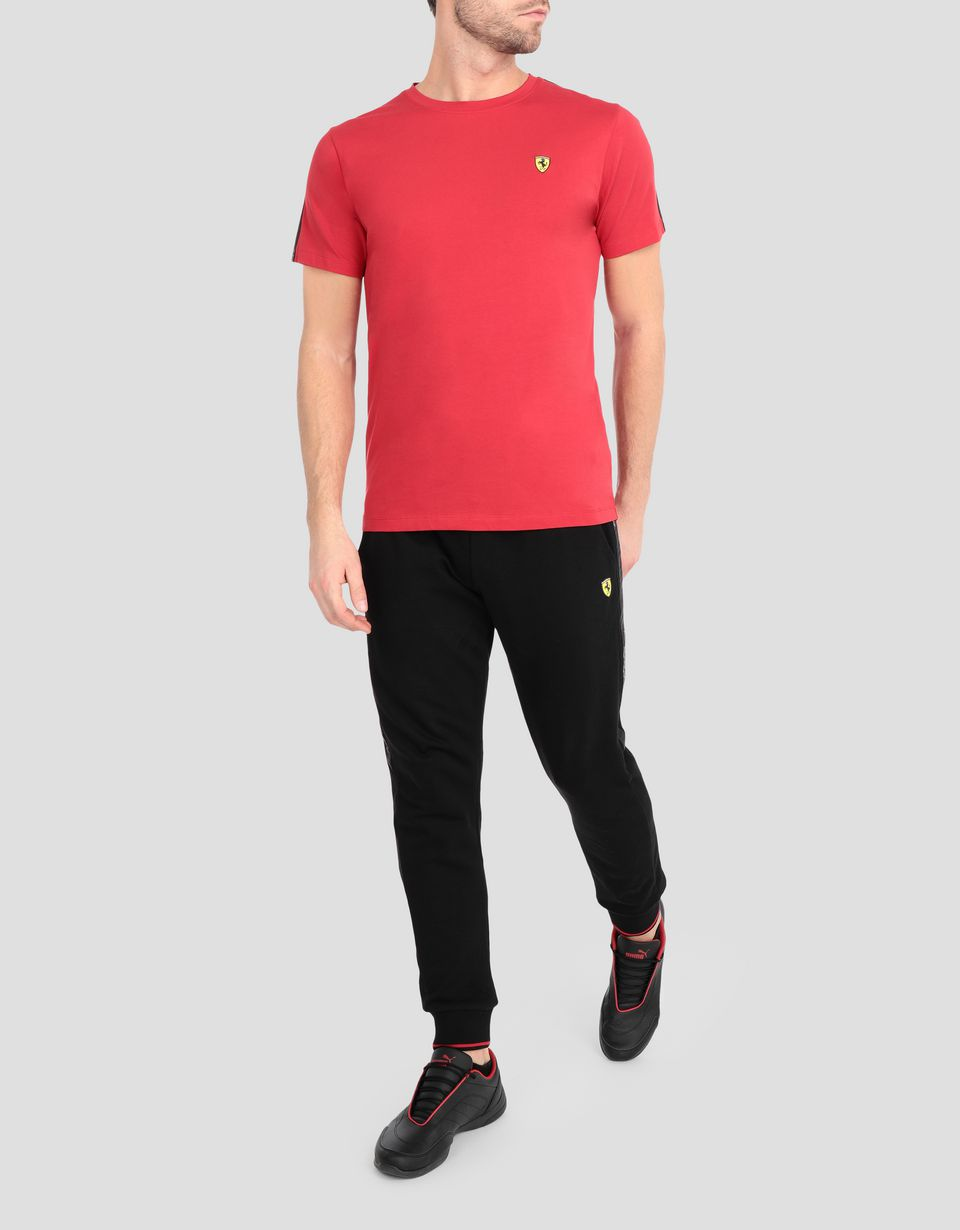 Scuderia Ferrari Online Store - Men's stretch jersey T-shirt with Icon Tape -