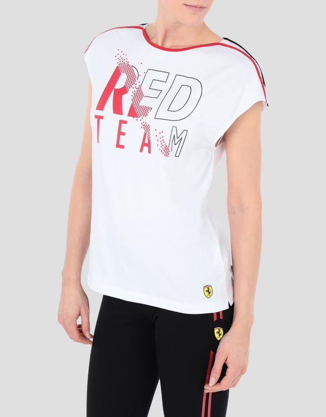 c549c7fa72c Scuderia Ferrari Online Store - Women's jersey RED TEAM T-shirt - Short  Sleeve T ...