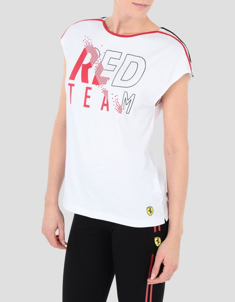 Women's RED TEAM T-shirt in cotton jersey