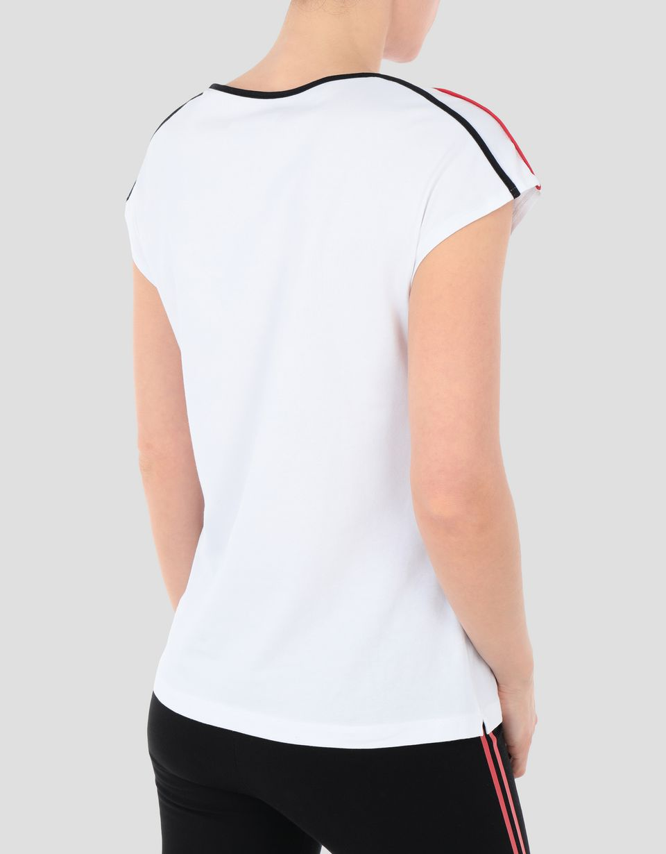 Scuderia Ferrari Online Store - Women's RED TEAM T-shirt in cotton jersey - Short Sleeve T-Shirts