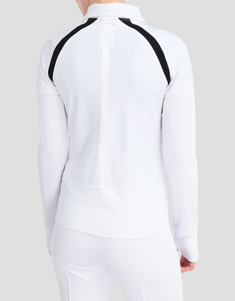 Women's top in Milano rib with zip