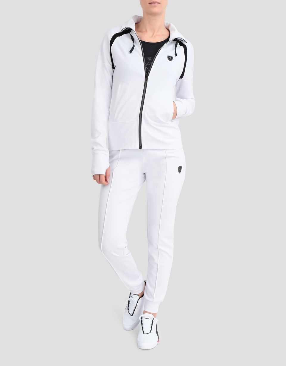 Scuderia Ferrari Online Store - Women's top in Milano rib with zip - Zip Jumpers
