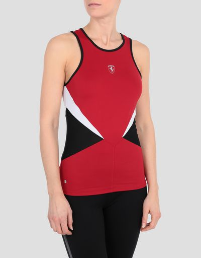 Women's running tank with perforated inserts