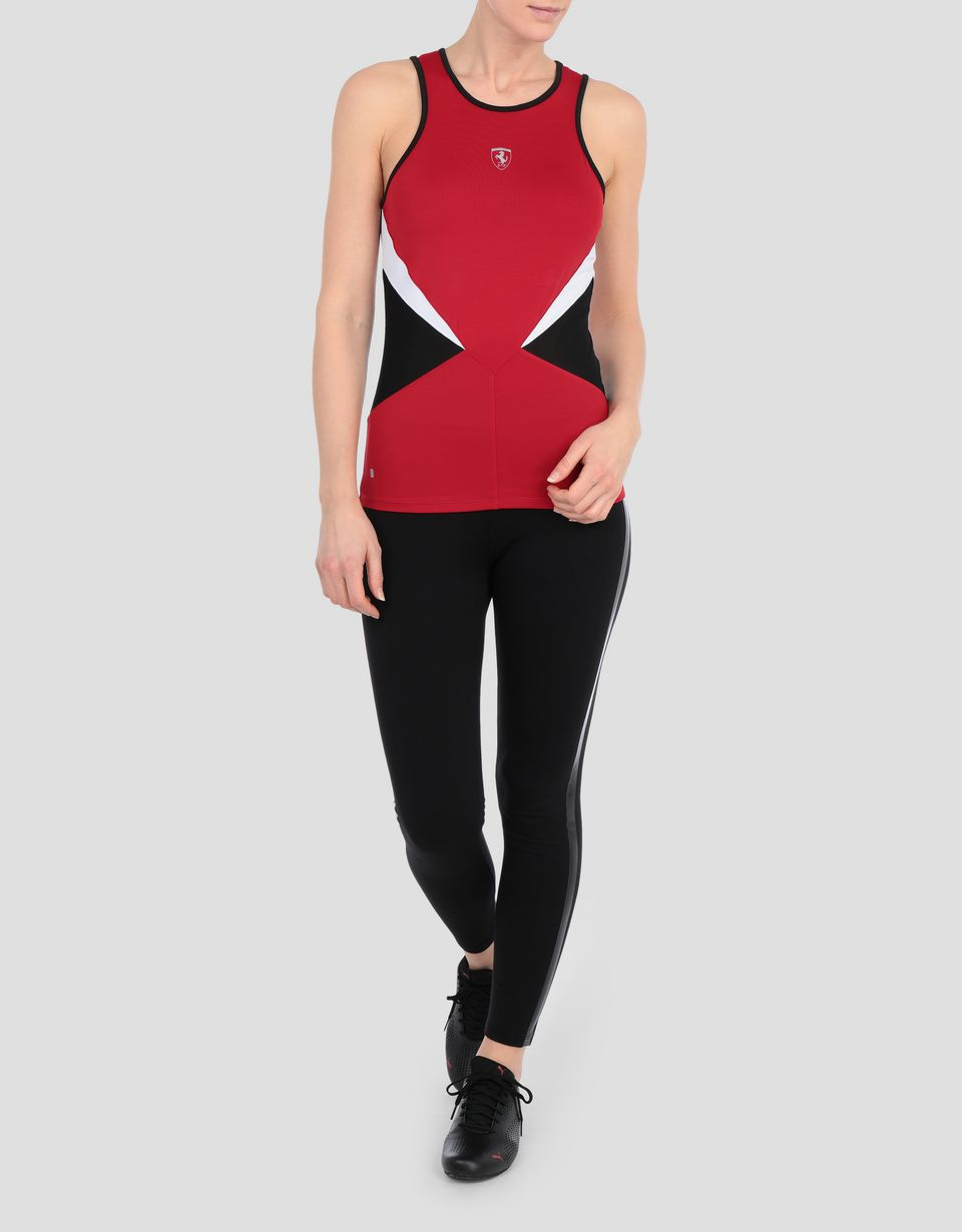 Scuderia Ferrari Online Store - Women's running tank with perforated inserts - Tank Tops