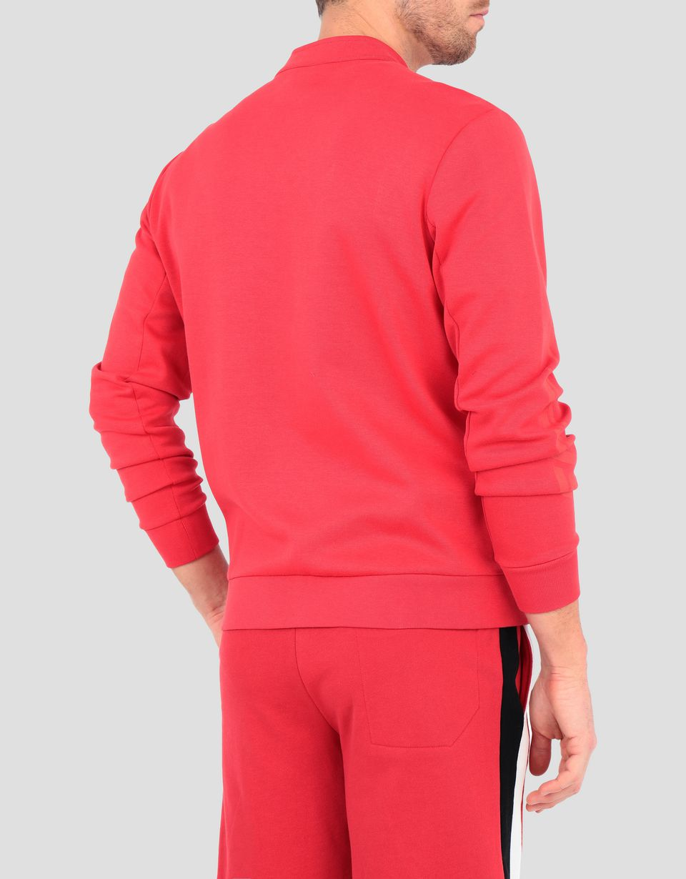 Scuderia Ferrari Online Store - Men's double knit sweater with zipper - Zip Sweaters
