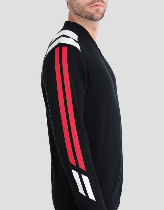 Scuderia Ferrari Online Store - Men's tricot knit sweater with full zip -