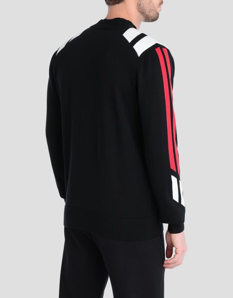Men' tricot sweater with full zipper