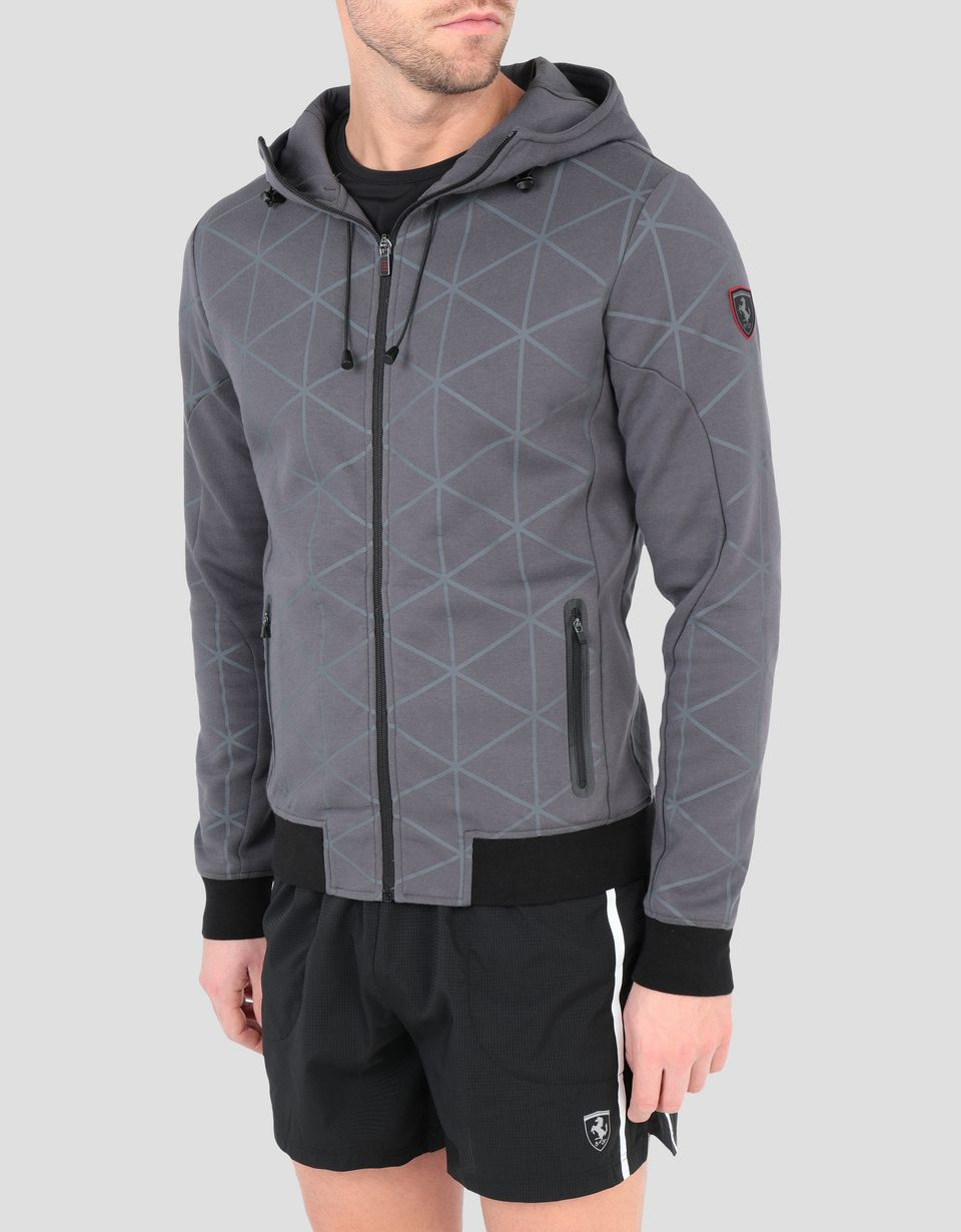 Scuderia Ferrari Online Store - Men's printed hoodie with zipper - Zip Hood Sweaters