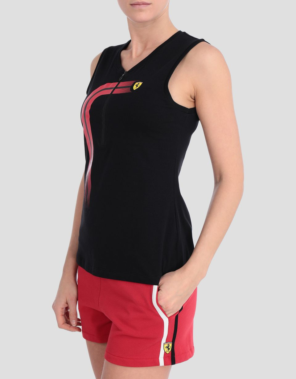 Scuderia Ferrari Online Store - Women's jersey tank with track print - Tank Tops