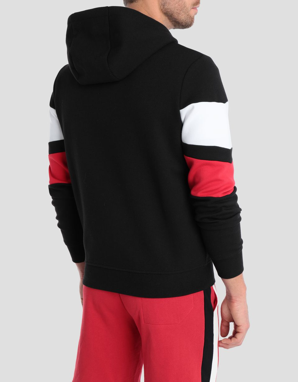 Scuderia Ferrari Online Store - Men's double knit sweater with hood - Zip Hood Jumpers