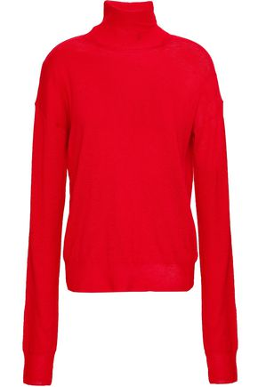 HELMUT LANG Wool and silk-blend turtleneck sweater