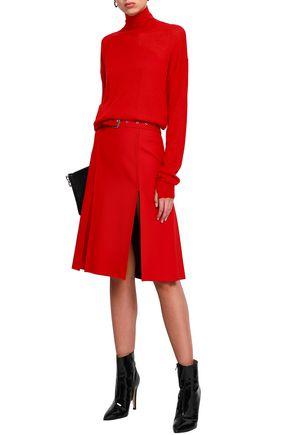 HELMUT LANG Wool and silk-blend turtleneck sweater