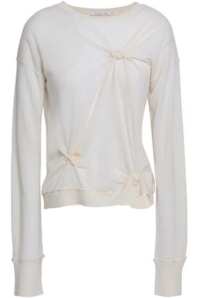 HELMUT LANG Knotted cashmere sweater