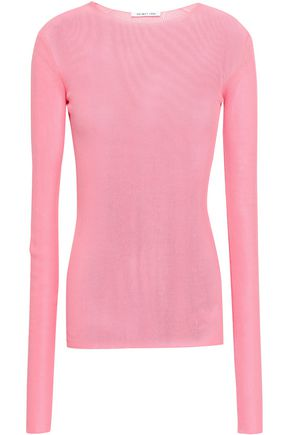 Open Knit Cotton Top by Helmut Lang