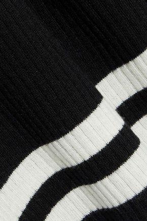IRIS & INK Jemima striped ribbed wool-blend sweater