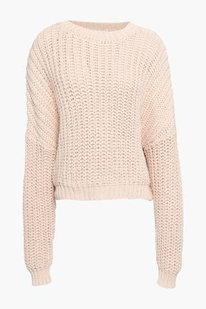 ZIMMERMANN Ribbed-knit cotton sweater